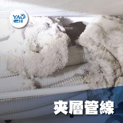 家裡有老鼠:鼠害的危害進程06老鼠在管道間夾層管線上用抹布築巢做窩